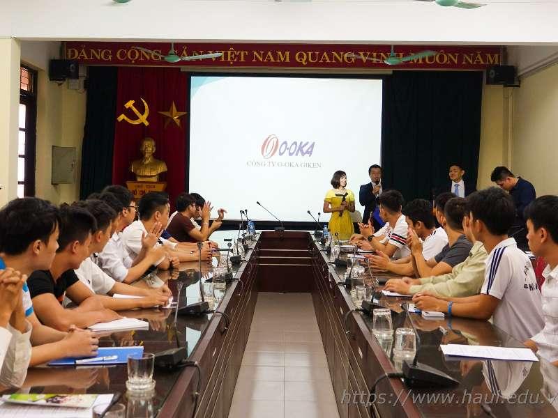 Seminar on training program for HaUI talented engineers of O-OKA Giken Company