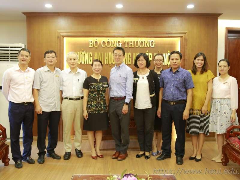 Đoàn chuyên gia JICA làm việc tại Đại học Công nghiệp Hà Nội