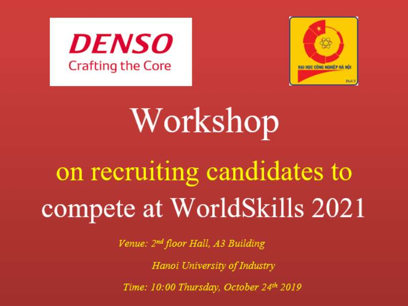 Workshop on recruiting candidates to compete at WorldSkills 2021