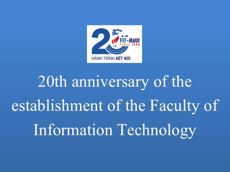 IT Faculty's 20th anniversary