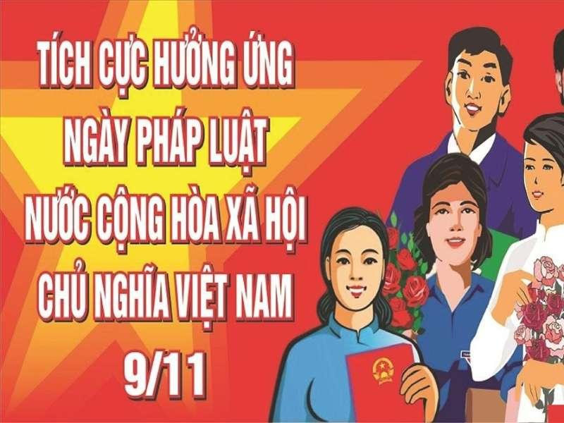"""Thông báo tổ chức cuộc thi """"Tuyên truyền giáo dục pháp luật"""" chào mừng ngày pháp luật Việt Nam 9/11."""