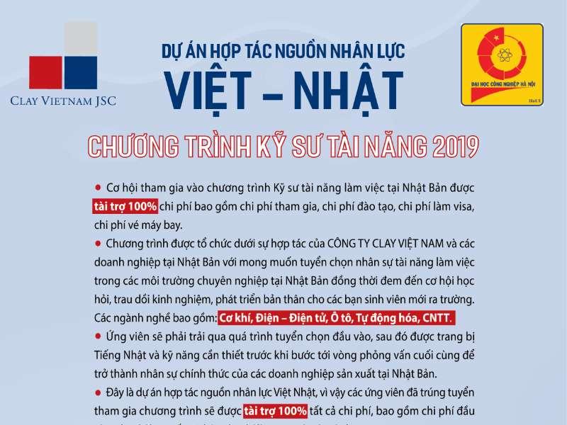 Hội thảo chương trình tuyển sinh đào tạo kỹ sư tài năng làm việc tại Nhật Bản của Công ty Clay Việt Nam