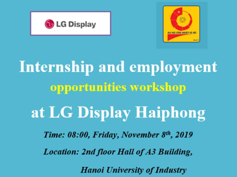 Workshop on internship and employment opportunities at LG Display Haiphong