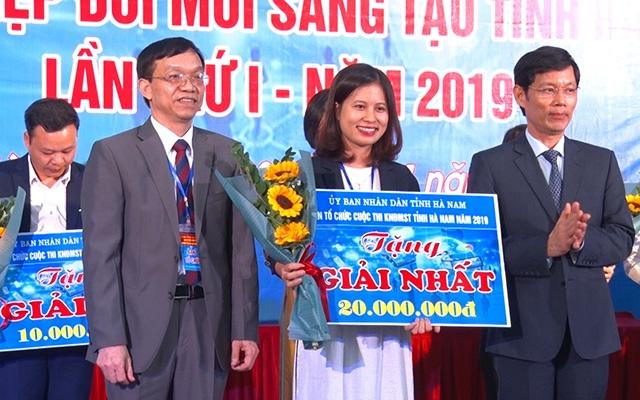 Sinh viên Đại học Công nghiệp Hà Nội đạt giải Nhì tại cuộc thi khởi nghiệp đổi mới sáng tạo tỉnh Hà Nam 2019