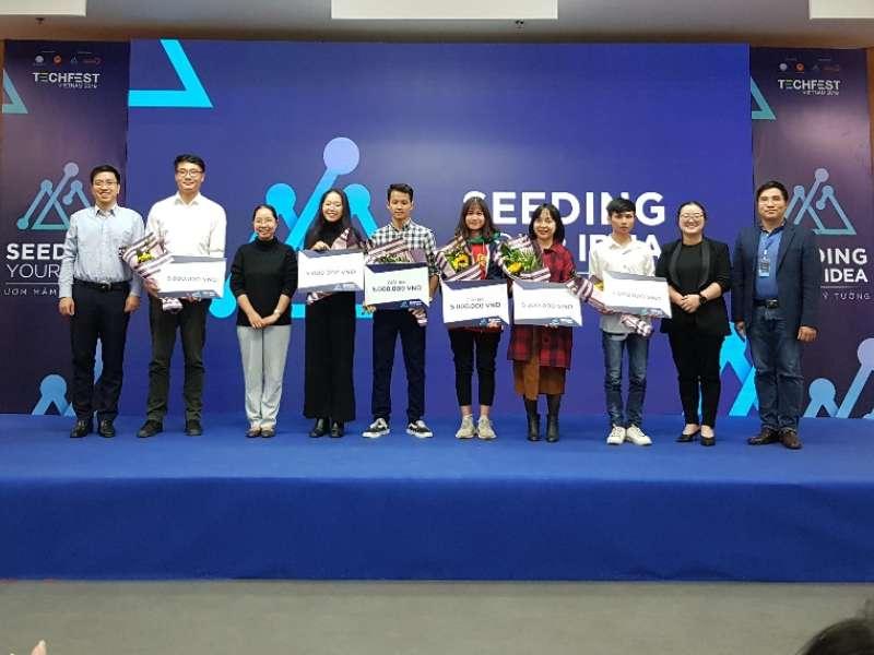 Sinh viên Đại học Công nghiệp Hà Nội xuất sắc đạt 01 giải Nhì, 02 giải Ba cuộc thi Seeding your idea