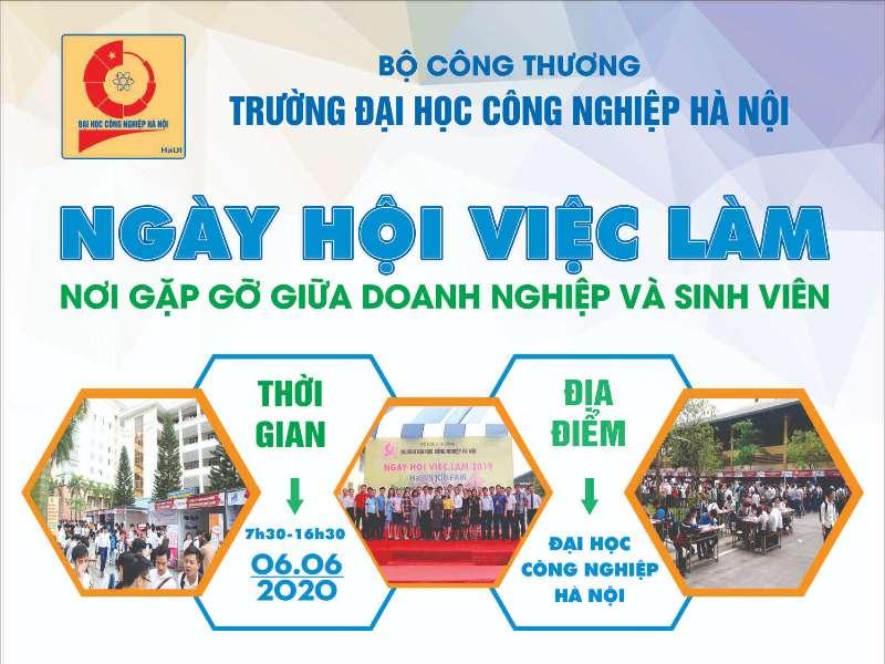 Ngày hội việc làm Trường Đại học Công nghiệp Hà Nội năm 2020