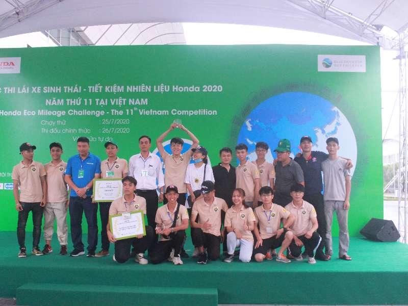 Super Cup 50 - Đại học Công nghiệp Hà Nội giữ vững ngôi vô địch cuộc thi Lái xe sinh thái tiết kiệm nhiên liệu Honda năm 2020