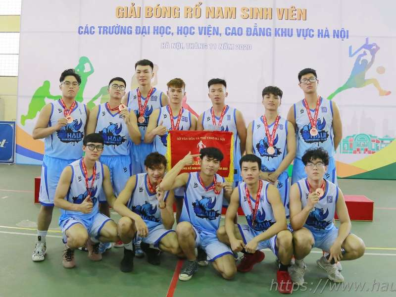 HaUI ranks third in Hanoi Men's Basketball League 2020