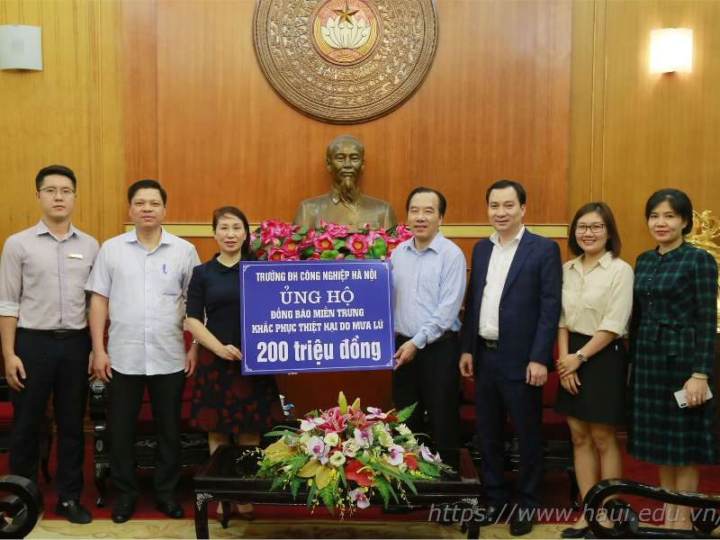 HaUI join force to support flood-stricken Central Vietnam