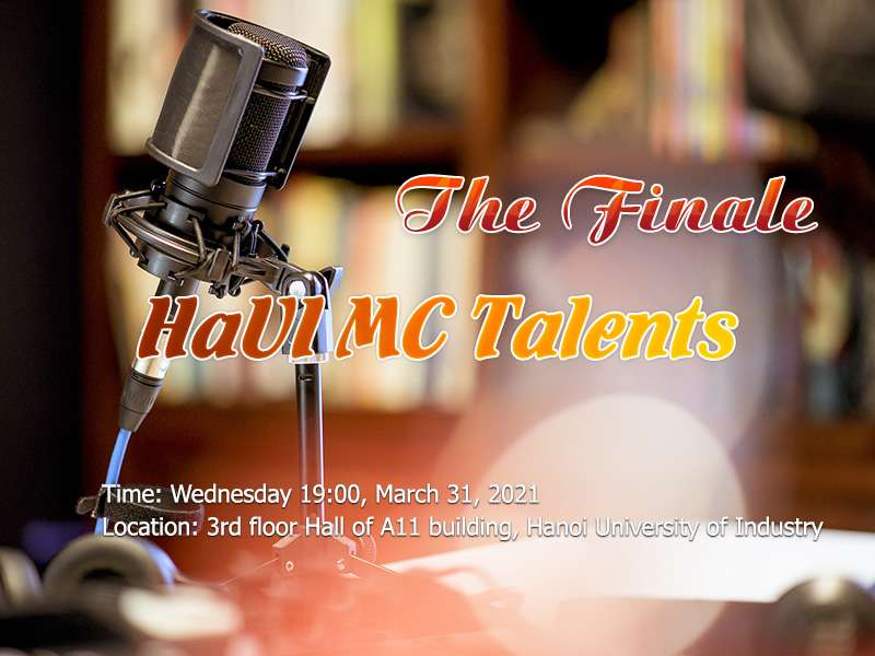 "The finale ""HaUI MC Talents"" contest"