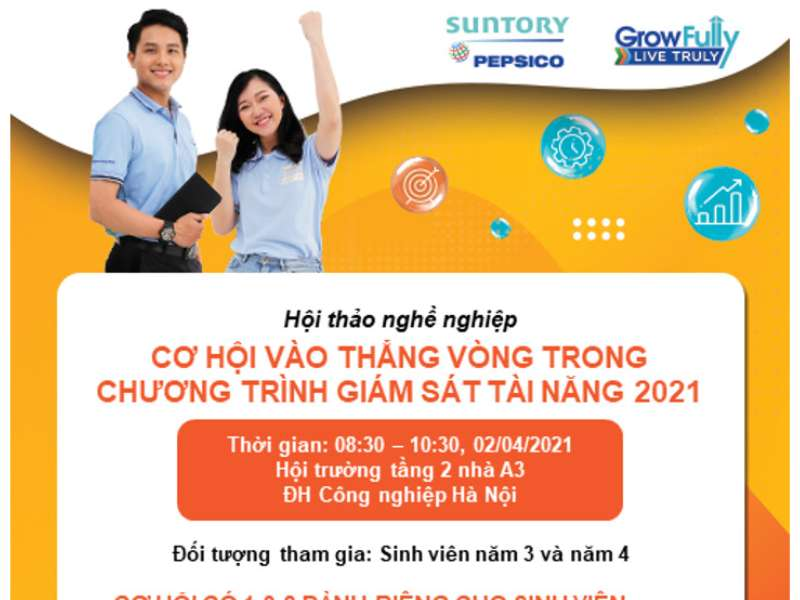 Job opportunities workshop at Suntory Pepsico Vietnam