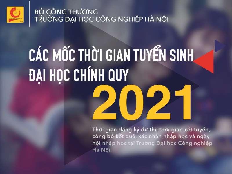 Các mốc thời gian tuyển sinh đại học chính quy năm 2021