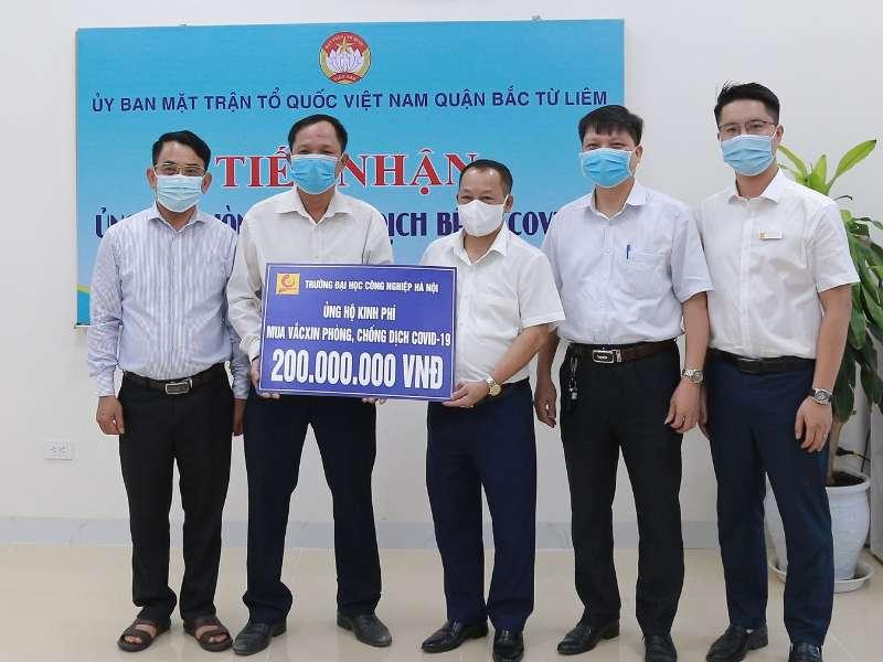 """Đại học Công nghiệp Hà Nội ủng hộ 200 triệu đồng cho """"Quỹ vắc-xin phòng chống COVID-19"""""""