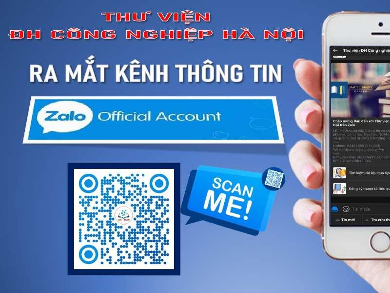 Trung tâm Thông tin Thư viện, Đại học Công nghiệp Hà Nội ra mắt kênh thông tin Zalo Official Account