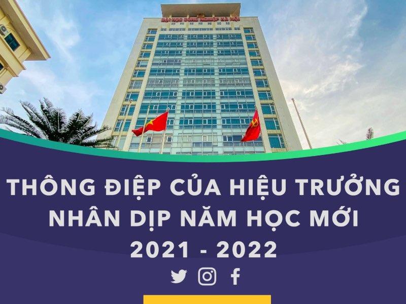 Thông điệp của Hiệu trưởng nhân dịp năm học mới 2021-2022